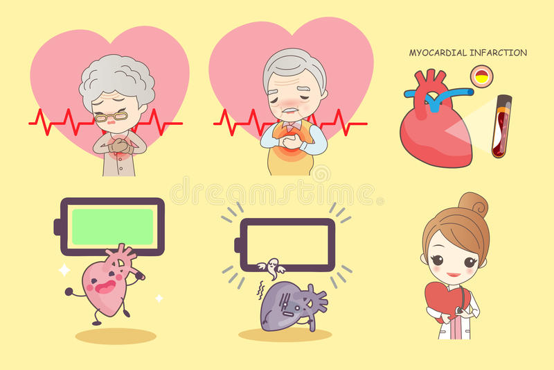 download 老人以心脏病 向量例证.图片