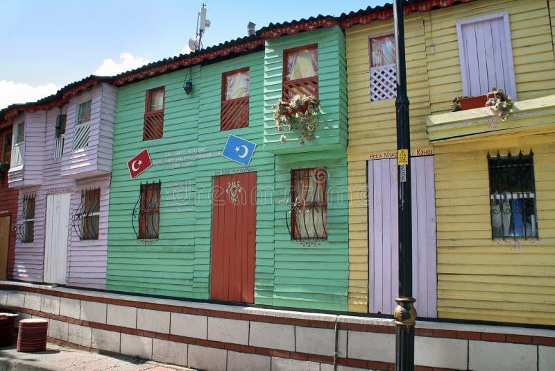 老伊斯坦布尔房子 库存图片