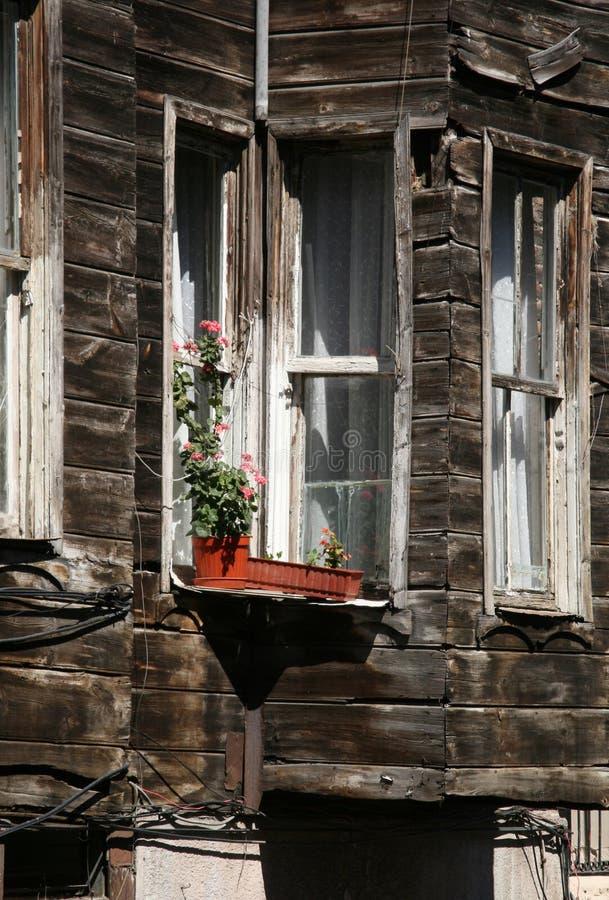 老伊斯坦布尔房子 免版税库存照片