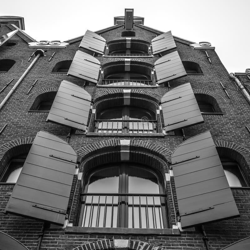 老传统荷兰窗口特写镜头 库存图片