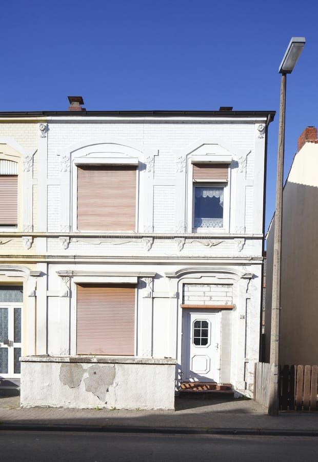 老住宅行格住宅,德国,欧洲 免版税库存照片