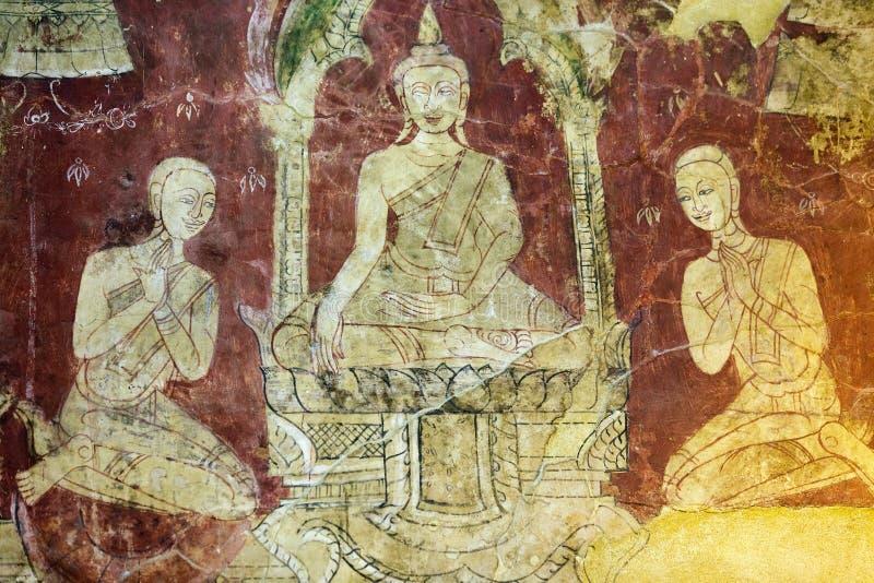 老佛教绘画 免版税图库摄影