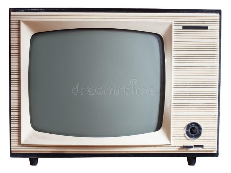 老俄国人电视机 库存图片