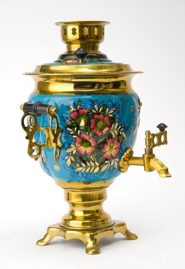 老俄国俄国式茶炊茶壶 免版税库存图片