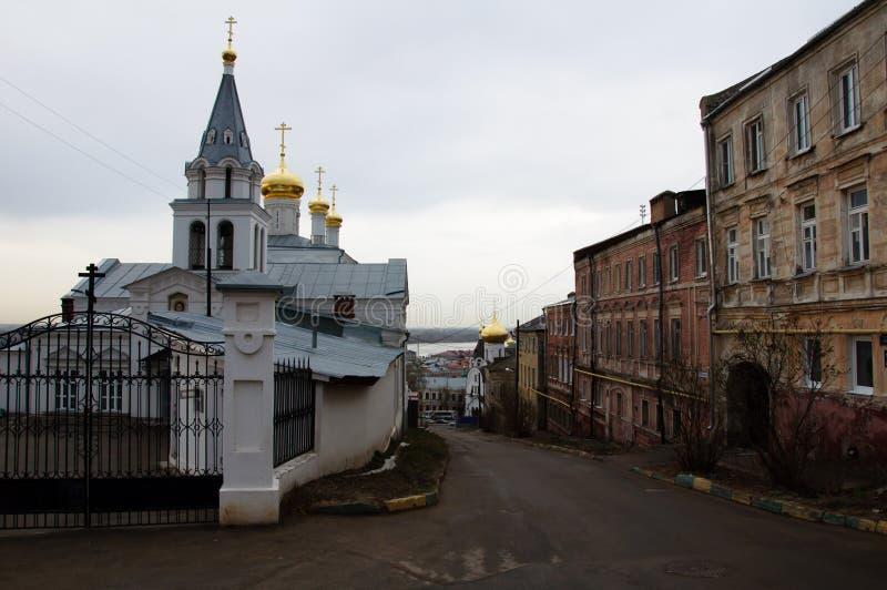 老俄国城市看法  免版税图库摄影