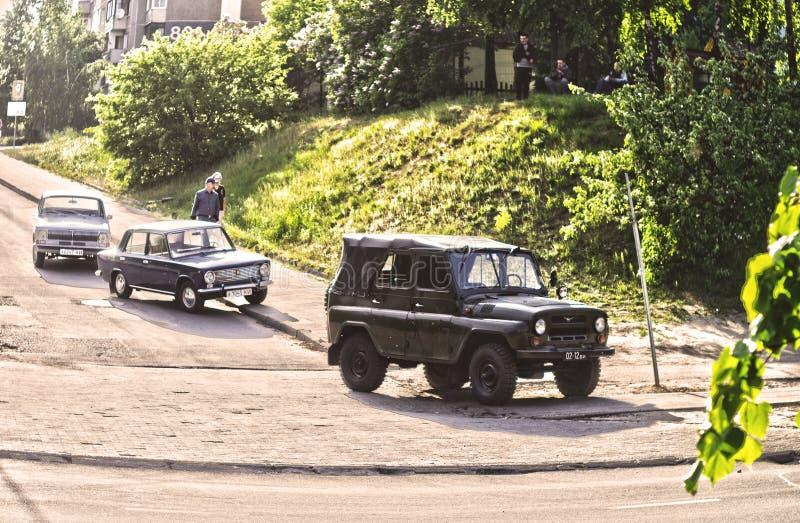 老俄国汽车 图库摄影