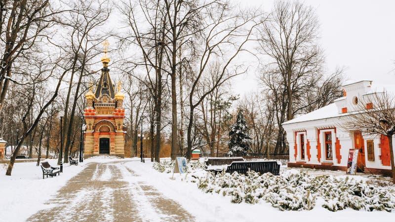 老信徒和白俄罗斯语传统Paskevich和韦特卡博物馆教堂坟茔在戈梅利,白俄罗斯 免版税库存照片