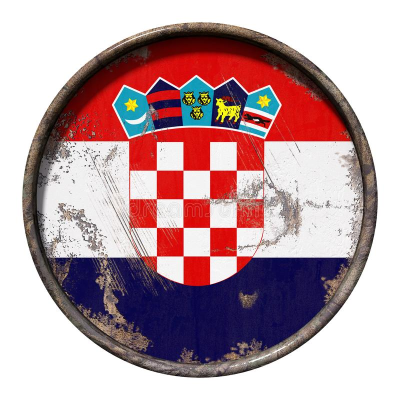 老克罗地亚旗子 库存例证