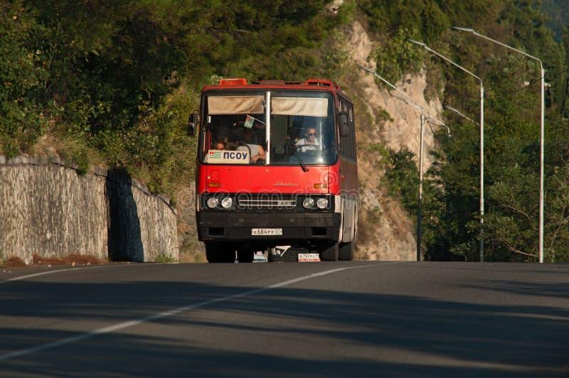 老公共汽车,加格拉,阿布哈兹 免版税库存图片