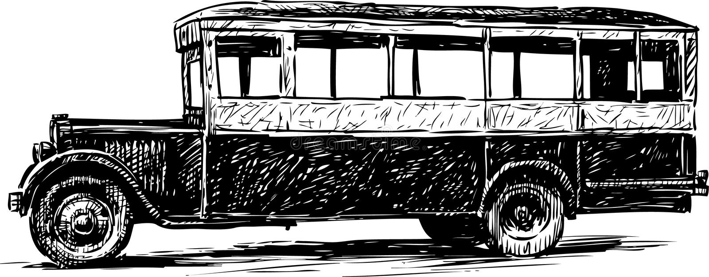 Download 老公共汽车 向量例证. 插画 包括有 轮子, 草图, 空白, 气体, 设备, 投反对票, 图象, 乘客, 室外 - 30326626