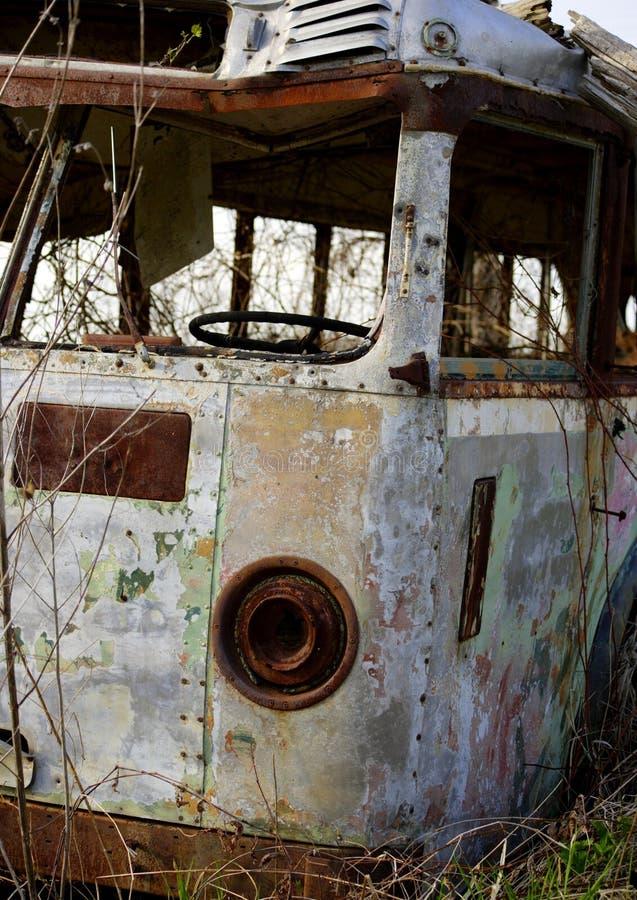 老公共汽车 库存照片