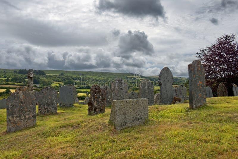 老公墓,圣Ives,康沃尔郡,英国 库存照片