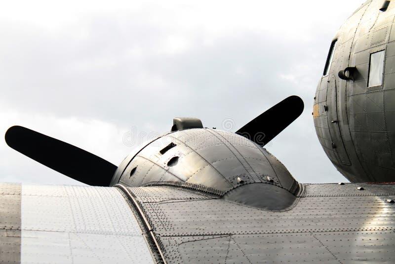 老军事飞机细节 免版税图库摄影