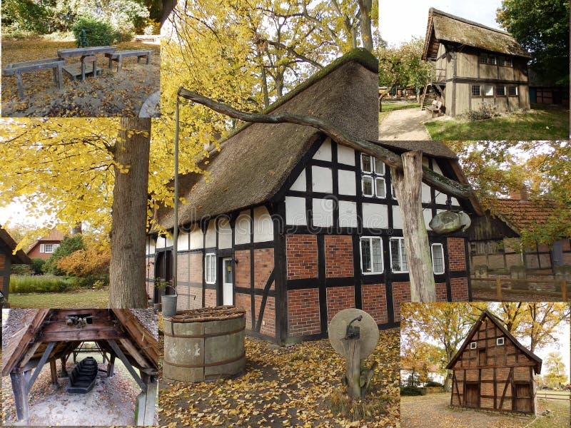 老农舍在德国 免版税库存图片