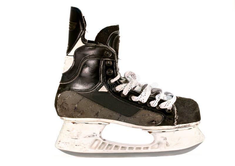 老冰球冰鞋,查出 图库摄影
