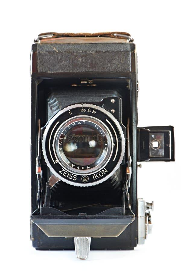 老减速火箭的照相机正面图 免版税库存图片