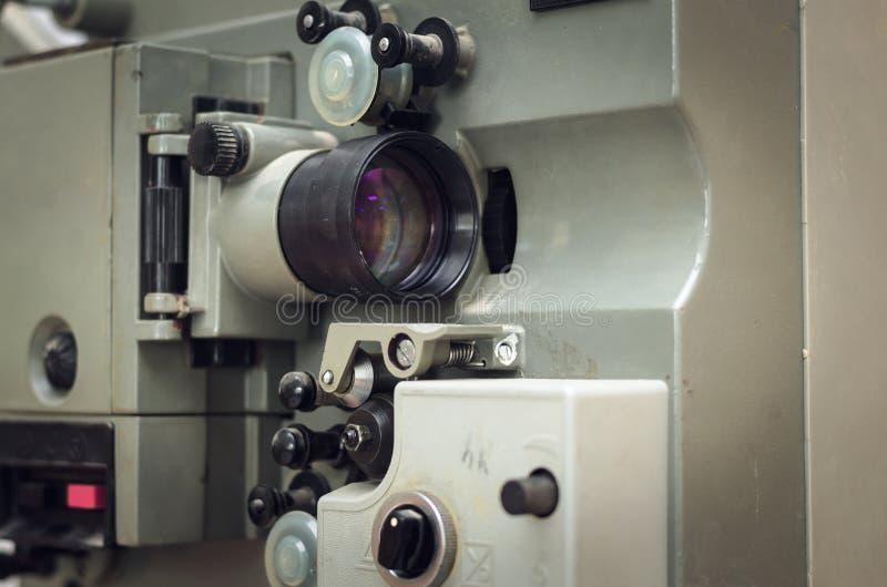 老减速火箭的电影放映机 库存图片