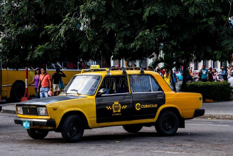 老出租汽车汽车古巴 免版税库存照片