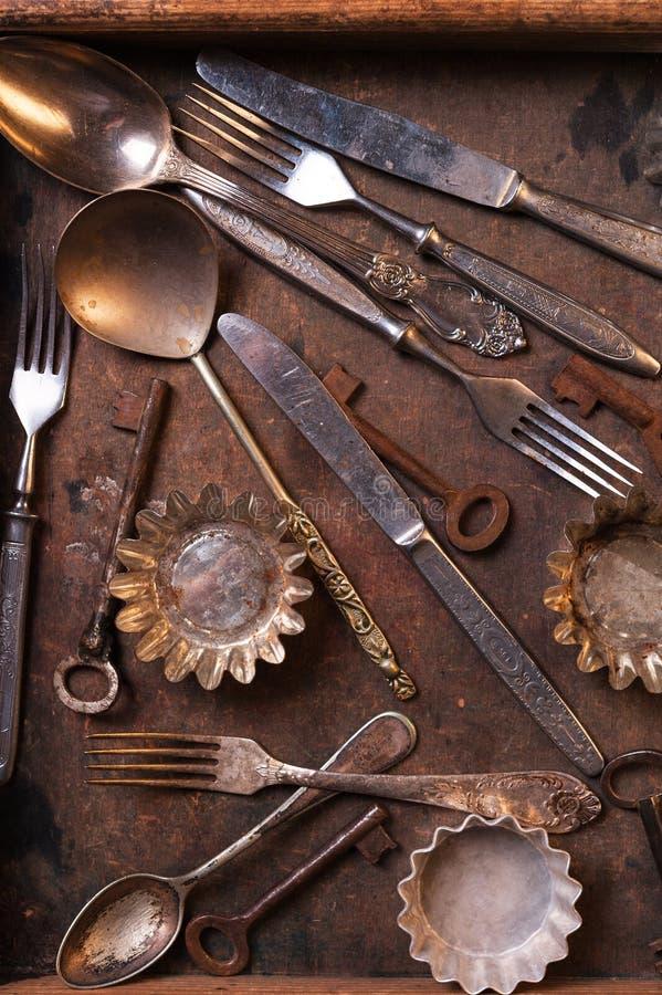 老利器和钥匙 库存照片