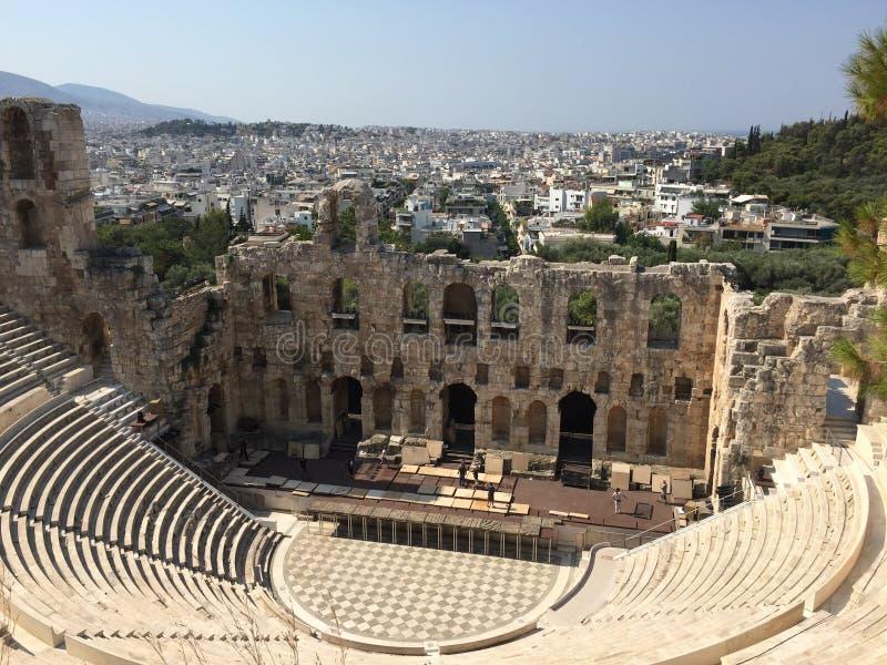 老剧院在雅典 库存图片