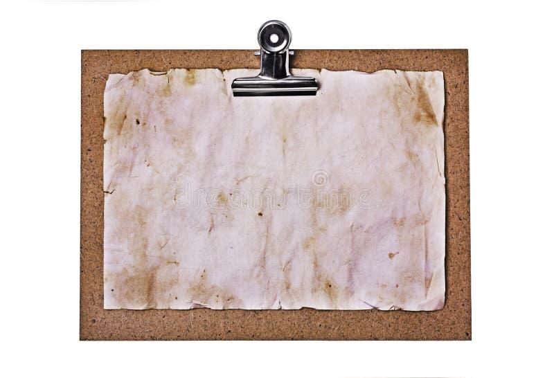 老剪贴板和难看的东西纸板料 库存照片