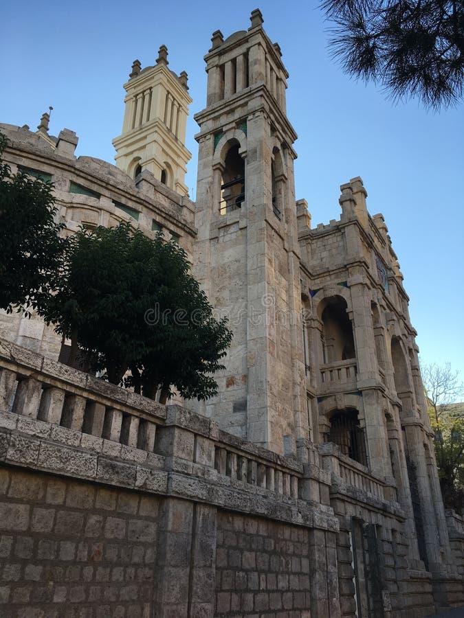 老医院在马德里 免版税库存图片