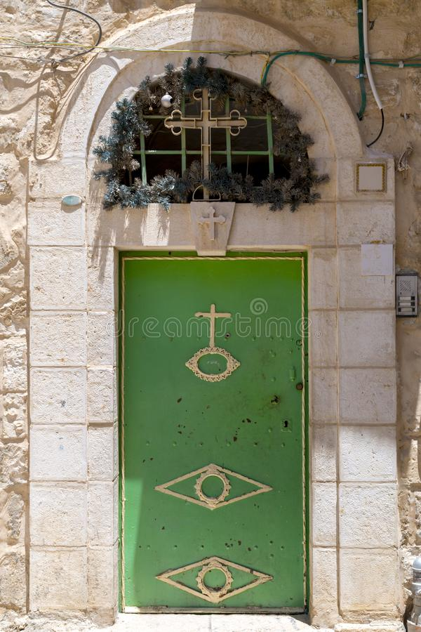 老华丽门在耶路撒冷 库存照片