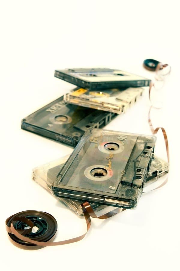 老卡式磁带音乐 图库摄影
