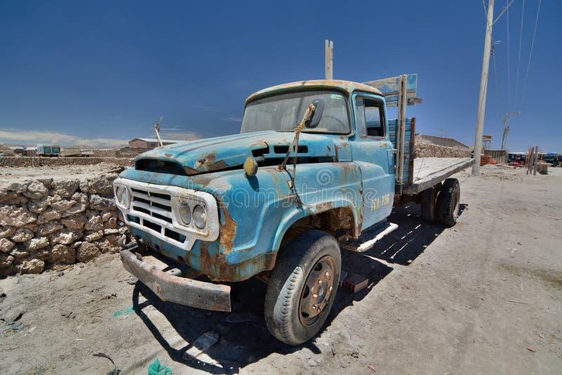 老卡车 Colchani PotosÃ部门 流星锤 库存图片