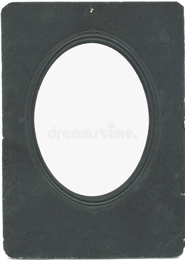老卵形photoframe装饰图案葡萄酒 免版税库存照片