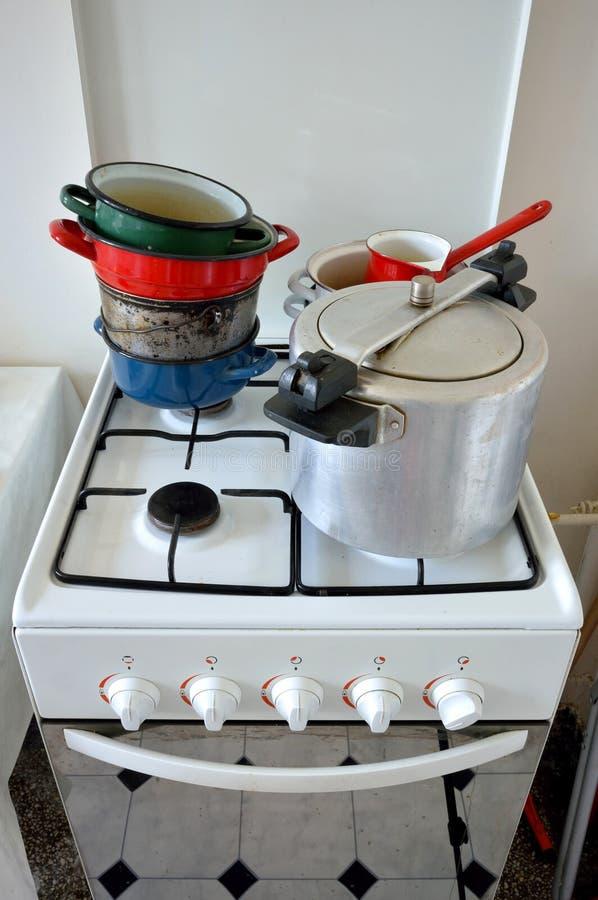 老厨房工具 图库摄影