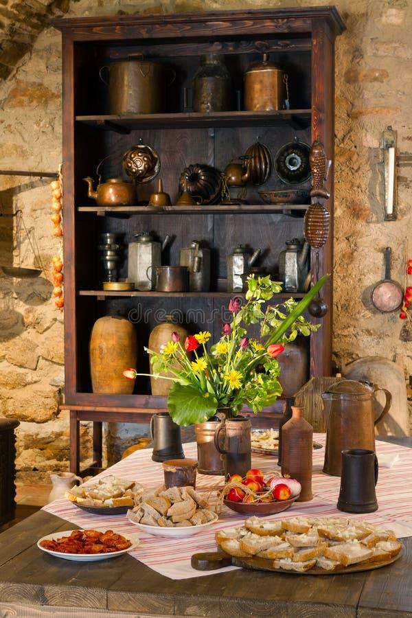 老厨房 库存照片