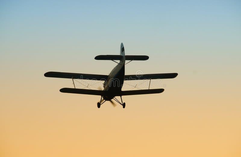 老双翼飞机 免版税图库摄影