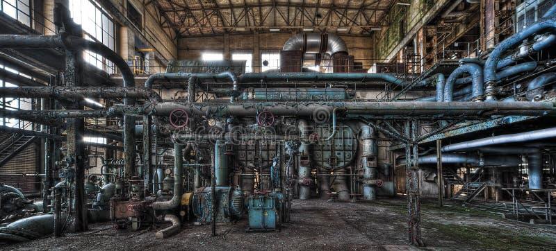 老发电厂 库存图片