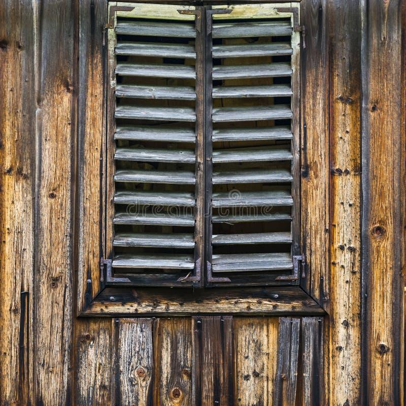 老变黑的木头 免版税库存照片