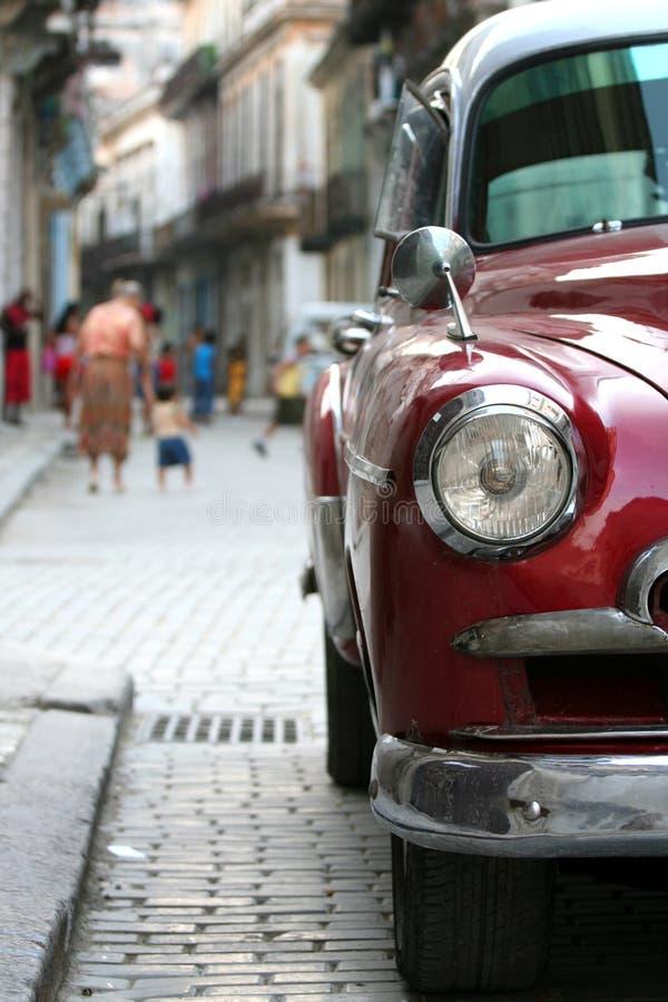 老古巴前灯 库存照片