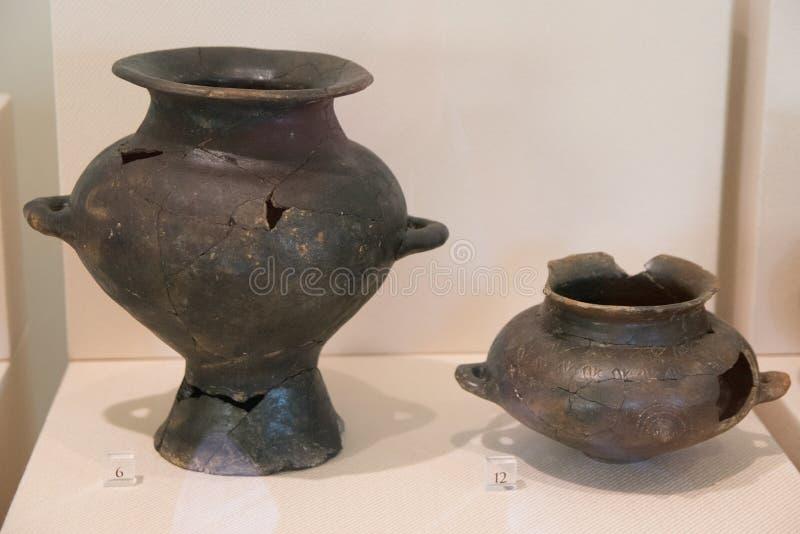 老古老罗马花瓶 免版税库存图片