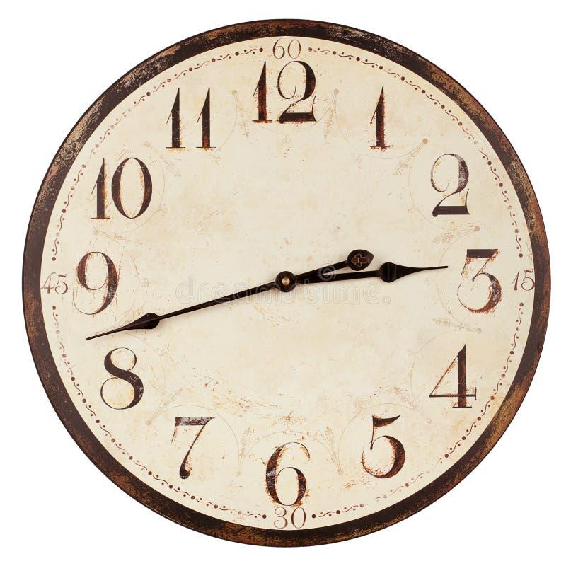 老古色古香的时钟 免版税图库摄影