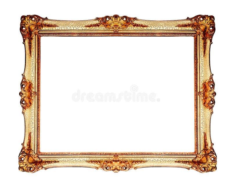 老古色古香的框架金子 图库摄影