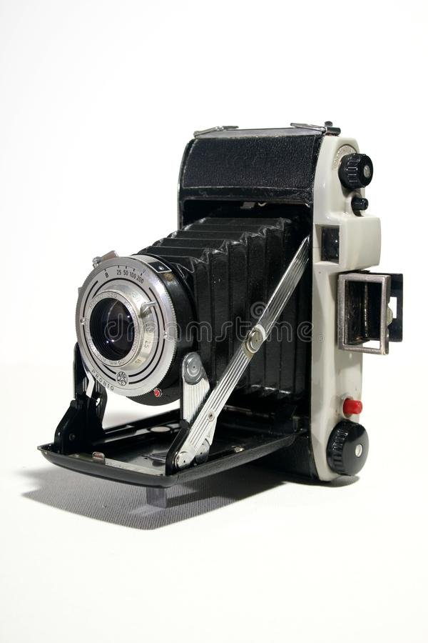老古色古香的风箱式照相机 免版税库存图片