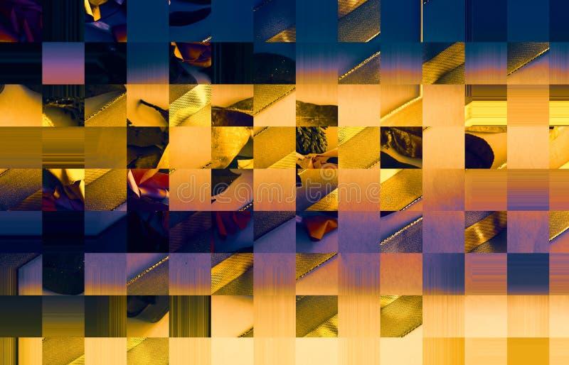老叶子的汇集 金黄小野鸭被设色的明亮的纸 好为海报,问候,卡片,题材 向量例证