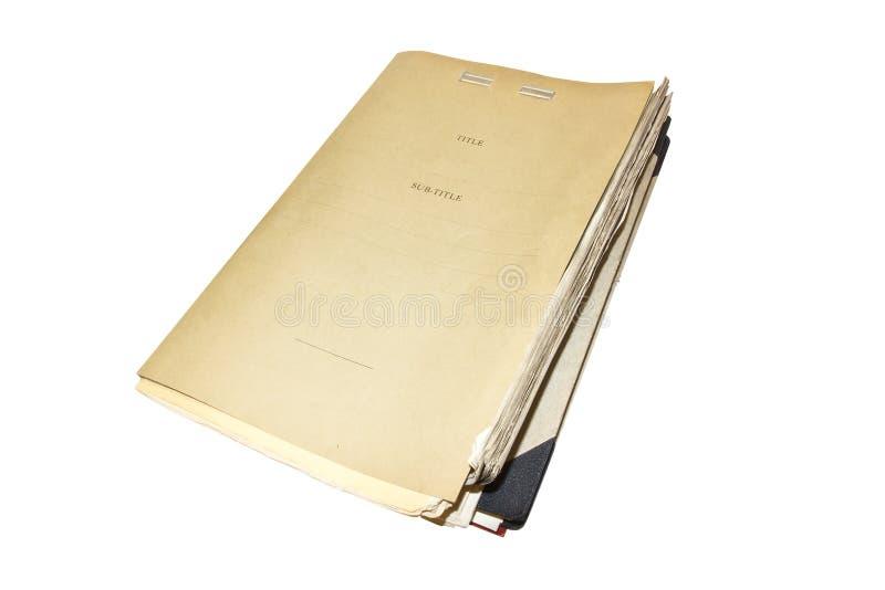 老和多灰尘的文件夹 库存照片