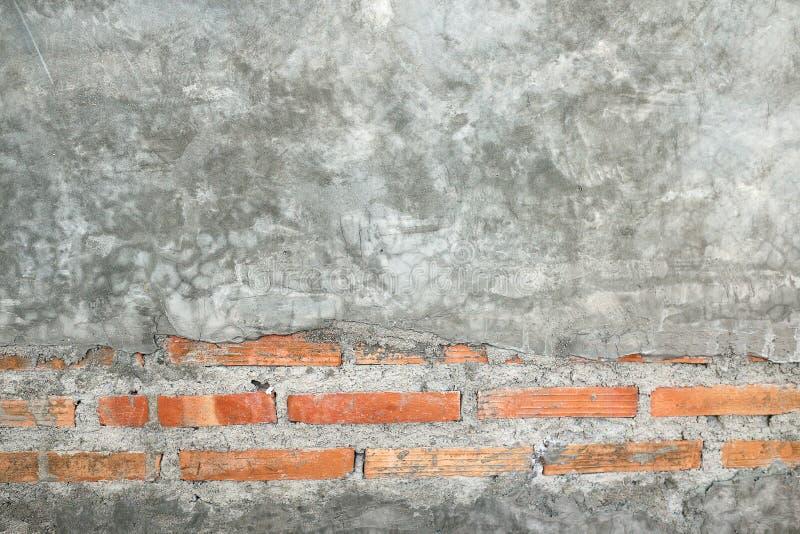 老和葡萄酒灰色颜色砖墙背景 免版税库存图片