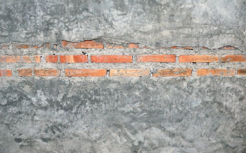 老和葡萄酒灰色颜色砖墙背景 库存照片