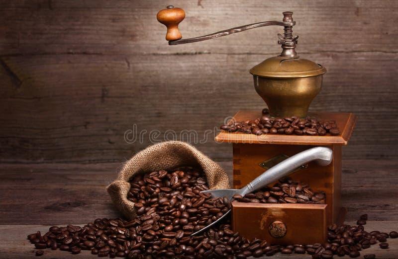 老咖啡设备 图库摄影