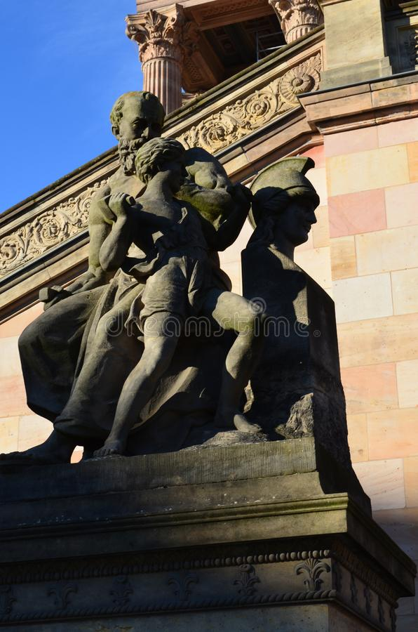 老国家美术馆大厦外部在柏林,德国 免版税库存图片