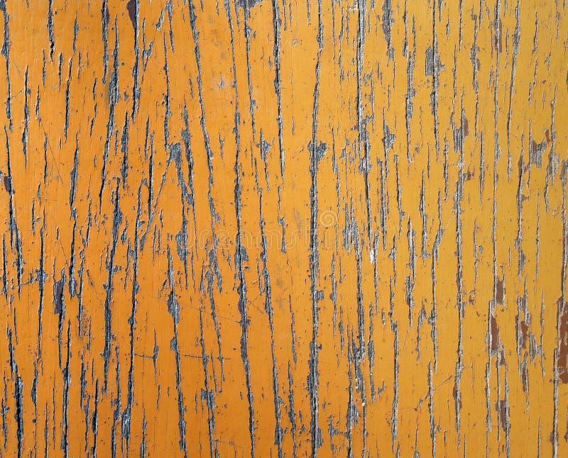 老土气棕色与被抓的和削皮油漆表面的葡萄酒木桌 免版税库存照片