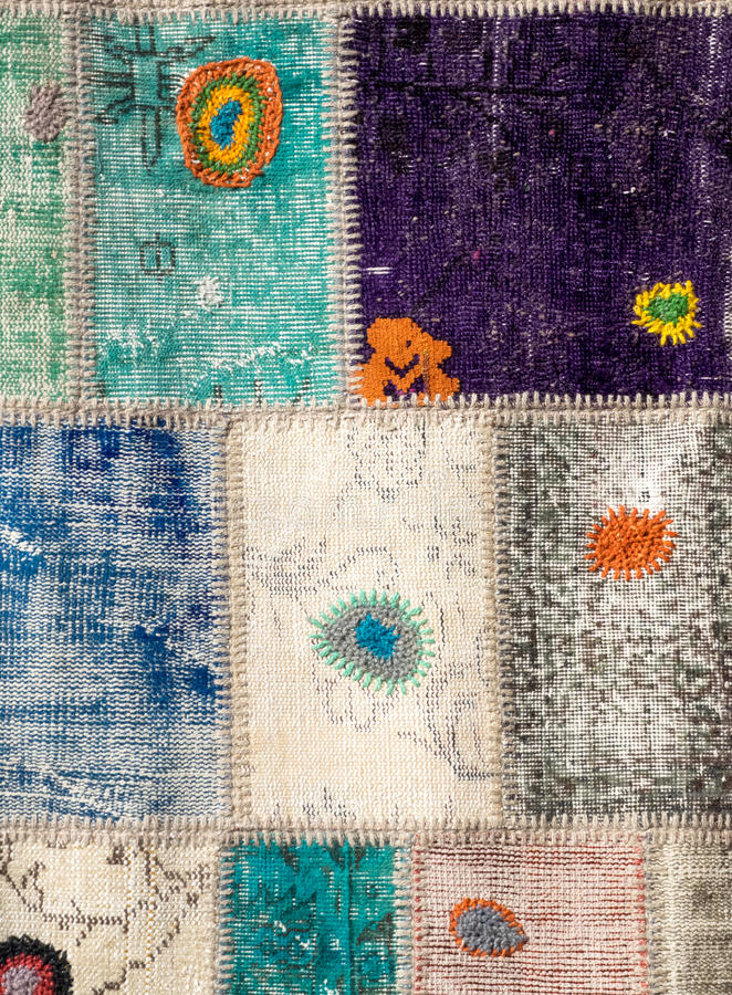 老土耳其地毯 库存照片