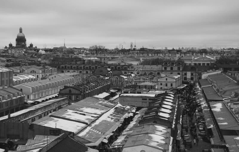 老圣彼得堡看法  图库摄影