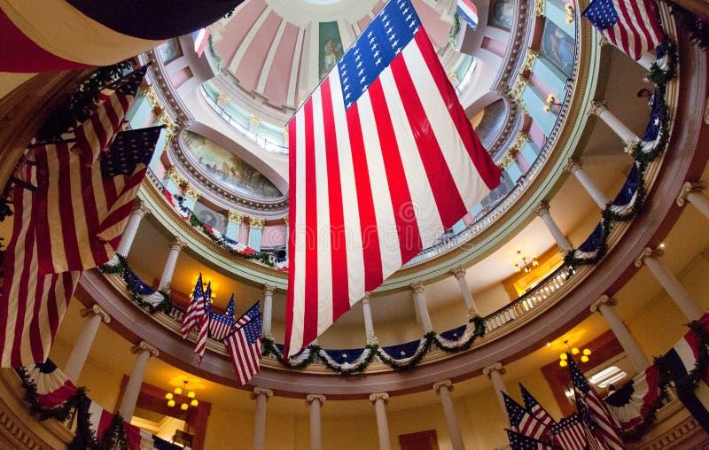 老圣路易斯市政厅在密苏里 免版税库存照片